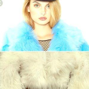 Jackets & Blazers - White Fox Fur Rave Coat